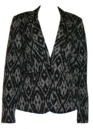 Пиджак жакет принт betty jackson, нарядный пиджак размер 12 наш 46