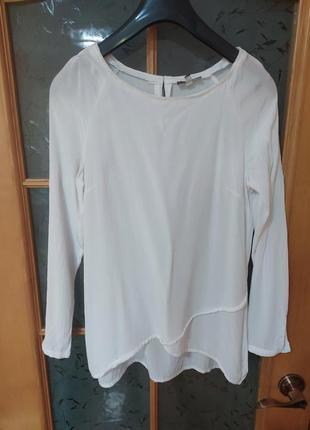 Нарядная базовая блуза с расшитым стеклярусом воротником от street one,p.38