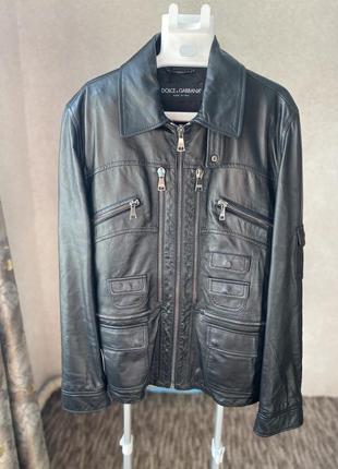 Кожаная куртка в стиле dolce@gabbana