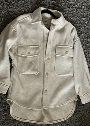 Рубашка -куртка тёплая страдивариус stradivarius