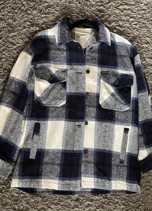 Рубашка клетка zara1 фото
