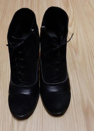 Кожаные ботинки 41 размер