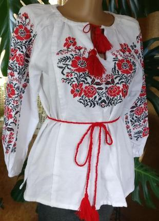 Вишиванка жіноча 38 м трикотаж сорочка + спідниця