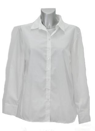 Женская  белая офисная рубашка  elerna. код 1335(5)
