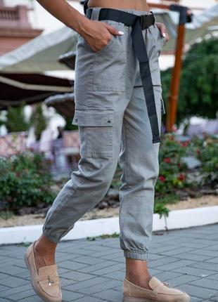Стильні джогери , штани , брюки з кишенями накладними