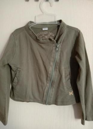 Трикотажная тонкая косуха пиджак укороченная куртка
