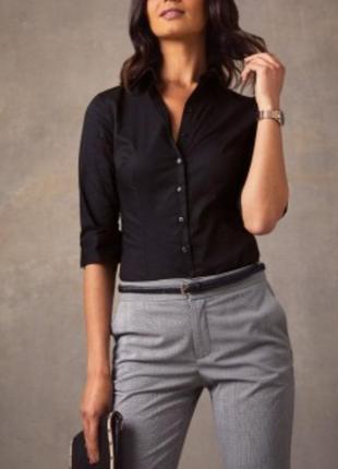 Чёрная женская рубашка # рубашка на пуговицах # papaya