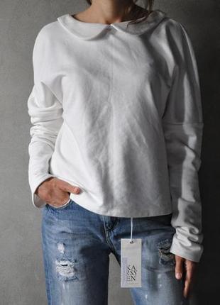 Свитшот poustovit размер 44 белый однотонный оригинал новый zara asos  massimo dutti