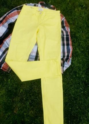 Ярко желтые брендовые джинсы tom tailor оригинал
