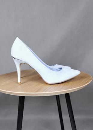 Идеальные голубые лодочки 182903 new look туфли на каблуке шпильке