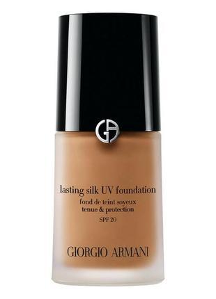 Тональный крем giorgio armani lasting silk uv foundation spf20 6,5 tawny beige