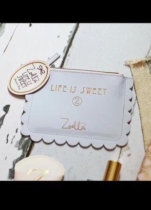 Zoella life is swet косметичка кошелек для мелочи лакированная оригинал