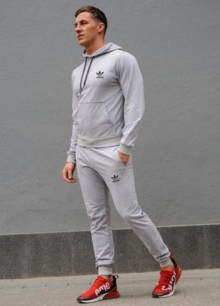 Cерый мужской спортивный костюм adidas (адидас)