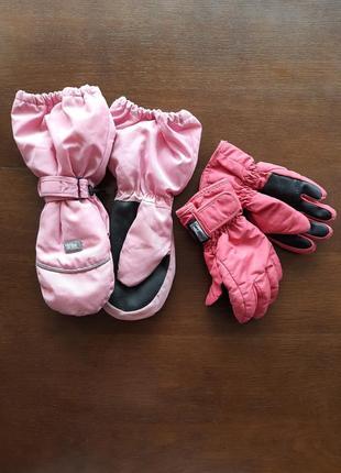 Перчатки+варежки зимние, набор.1 фото