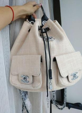 Рюкзак в стиле шанель chanel!