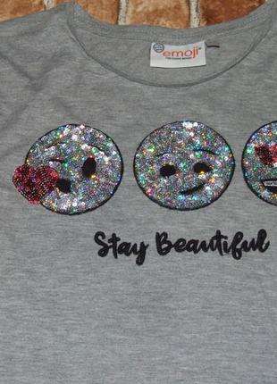 Нарядная футболка туника девочке 11 - 12 лет2 фото