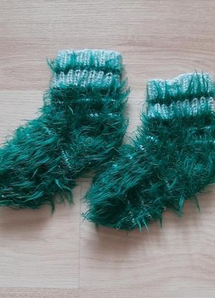 Носки теплые, вязаные.