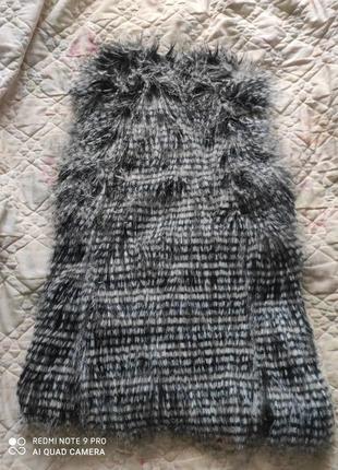 Суперская меховая жилетка под енота, экомех8 фото