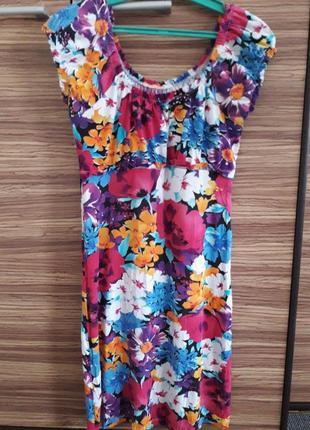 🌞сезонные скидки! красивое натуральное яркое платье принт цветы вискоза