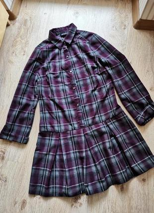Тёплое платье юбка складками