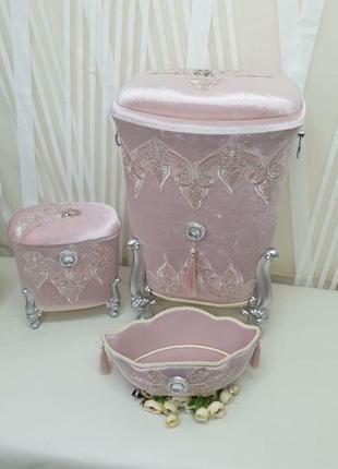 Набор корзин в ванную комнату 3 в 1, турция, в наличие разные