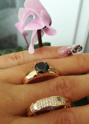 Кольцо, медицинское золото, позолота 18к