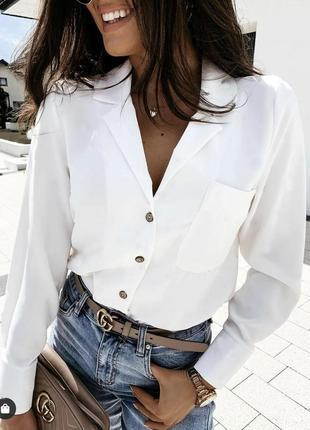 Белая рубашка базовая/цвета 👍