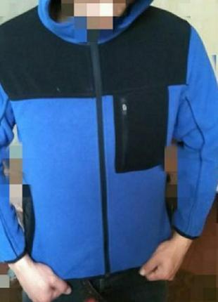 Ветровка с капюшоном,флиска,куртка, качество 🔥, размер с-хс.