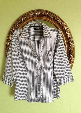 Приталенная блуза рукав 3\4