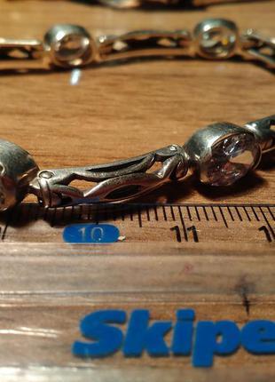 Браслет серебро 925 очень красивый 17,62гр.19см.