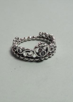 """Серебряное кольцо pandora """"корона"""" оригинал/оригинальная бирка"""