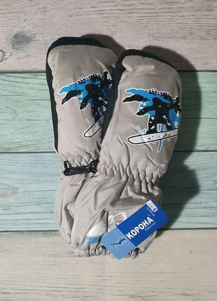 Варежки краги, непромокаемые термо-рукавички