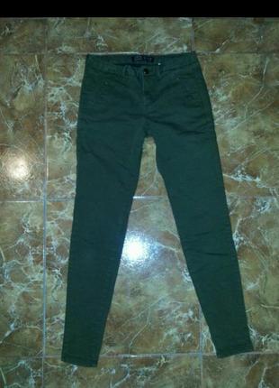 Скинни джинсы цвета хаки zara