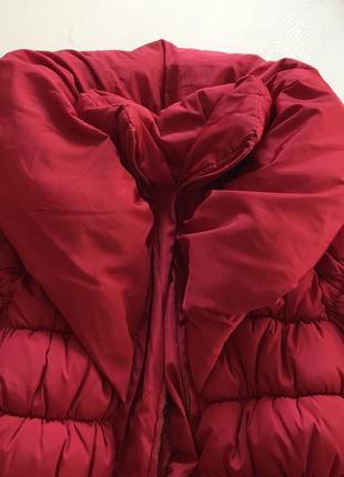 Очень тёплая зимняя удлиненная куртка пальто пуховик 8-10 лет3 фото