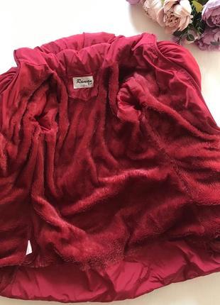Очень тёплая зимняя удлиненная куртка пальто пуховик 8-10 лет4 фото