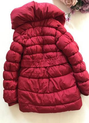 Очень тёплая зимняя удлиненная куртка пальто пуховик 8-10 лет5 фото