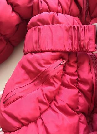 Очень тёплая зимняя удлиненная куртка пальто пуховик 8-10 лет7 фото