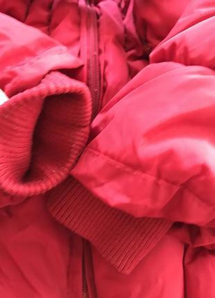 Очень тёплая зимняя удлиненная куртка пальто пуховик 8-10 лет9 фото