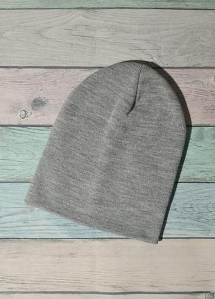 Двухслойная демисезонная шапка чулок бини унисекс р.54-60