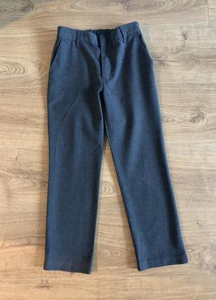 Серые школьные брюки m&s на рост 1341 фото