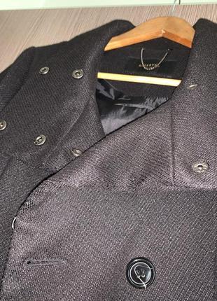 """Чёрное пальто """"reserved""""3 фото"""