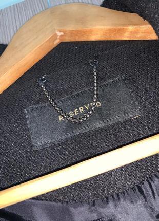 """Чёрное пальто """"reserved""""4 фото"""