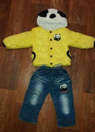 Осенний  костюм панда на мальчика 3-4 год.