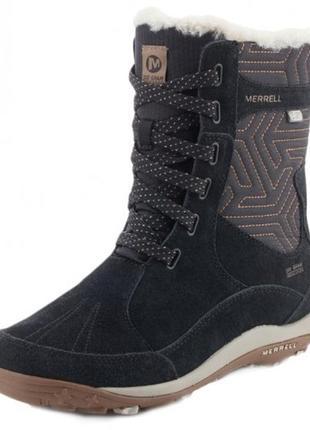 Зимние ботинки сапоги merrell, натуральная кожа, водонепроницаемые