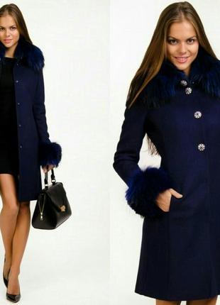 Шикарное шерстяное женское пальто love republic