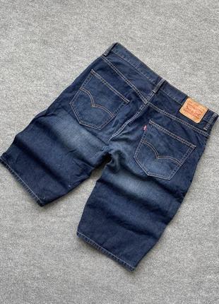 Отменные джинсовые шорты levis 569 модель {синие с высветленными участками}