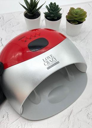 Лампа led/uv love crazy для маникюра 48вт, красная
