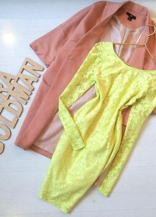 Кружевное лимонное платье ginatrikot