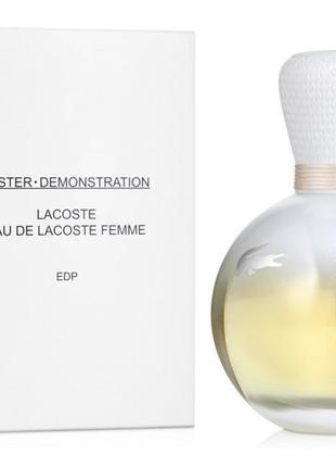 Lacoste eau de lacoste pour femme 90 ml тестер оригинал