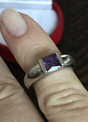 Кольцо 15,5 серебро